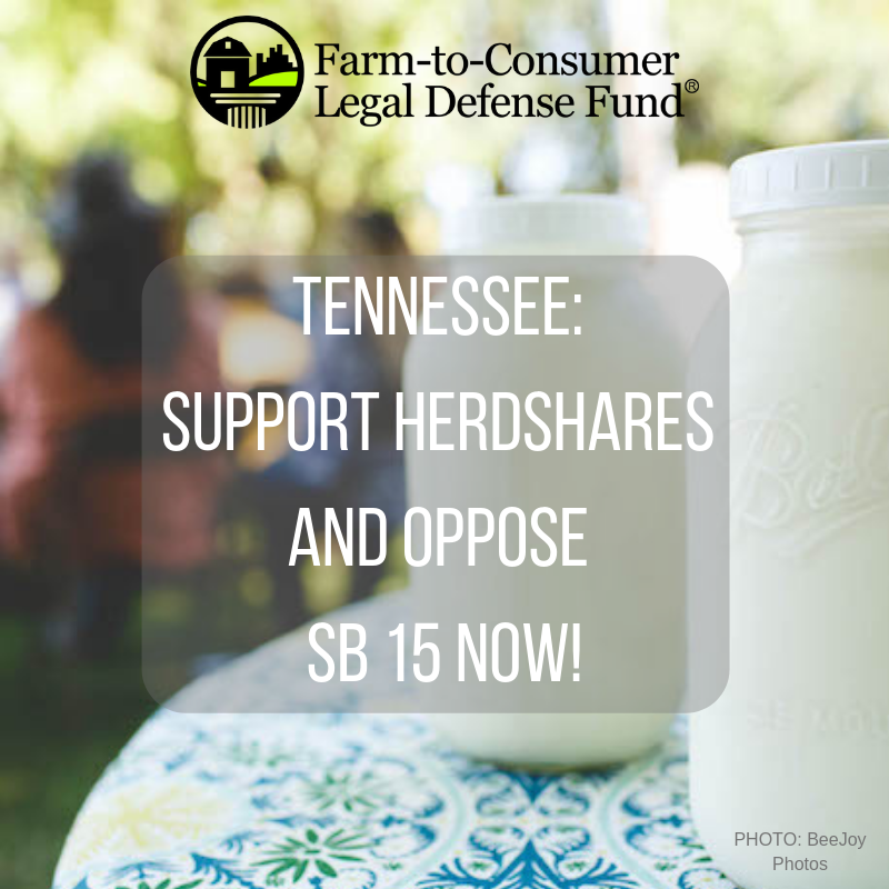 Oppose Senate Bill 15 in TN & Support Herdshares