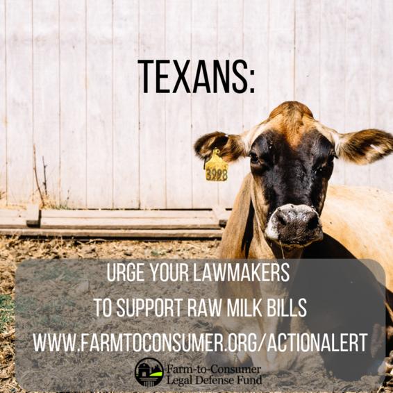 Texas Raw Milk Bills